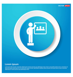 Presentation on business growth icon abstract vector