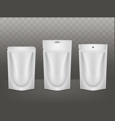 products polyethylene packaging realistic vector image