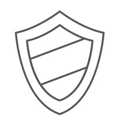 Protection thin line icon guard and safety vector