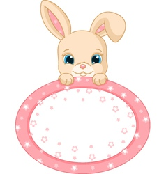 rabbit frame vector image