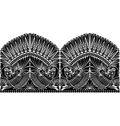 Russian ornament wibird vector