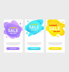 sale banner template design stories discount vector image