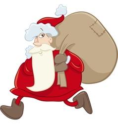 Santa on christmas cartoon vector
