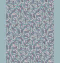 Seamless patten with swirling leaves vector