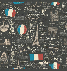 seamless pattern on theme france vector image