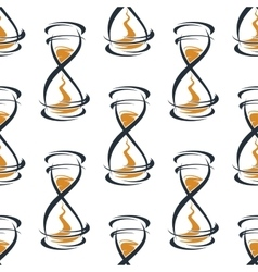 Seamless pattern with vintage hourglasses vector