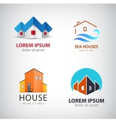 set of house logos vector image