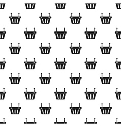 Shopping basket pattern simple style vector