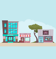 Small tourist town vector