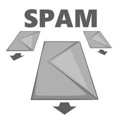 Spam e-mails icon gray monochrome style vector