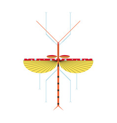 Stick insect icon in geometric flat style vector