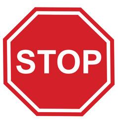 Stop sign design vector