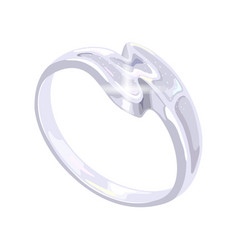Stylish s-shaped platinum white golden or silver vector