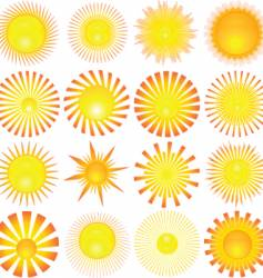 Sun shapes vector
