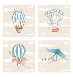 Sweets Flight Set vector