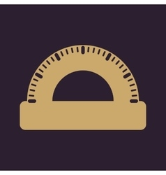 The protractor icon vector image