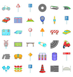 Traffic light icons set cartoon style vector