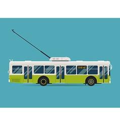 Trolley City Bus Icon vector image