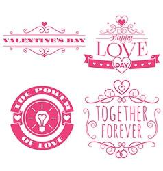 valentines day set of label badges stamp vector image