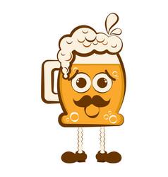 vintage worried beer cartoon character vector image