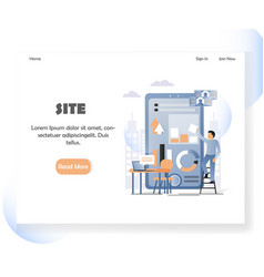 web developer website landing page design vector image