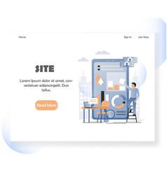 web developer website landing page design vector image