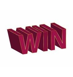Win text design vector
