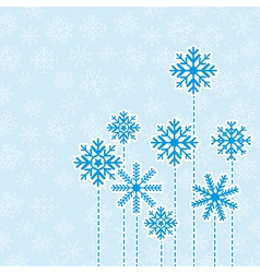 Winter background design vector