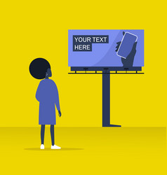 Your text here mockup new online service outdoor vector