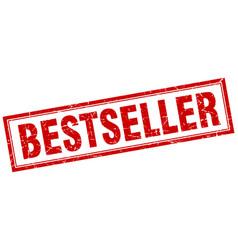 Bestseller red square grunge stamp on white vector