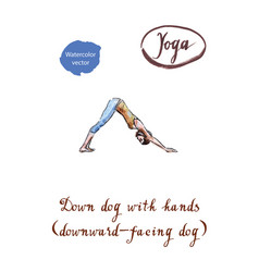 healthy yoga stretching woman vector image vector image