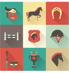 Horse icons vector image