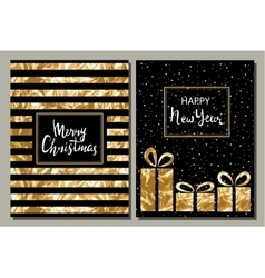 Set of two greeting card Merry Christmas and vector image vector image