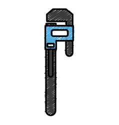 adjustable wrench tool vector image vector image