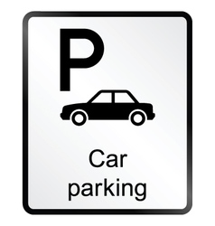 Car Parking Information Sign vector image vector image