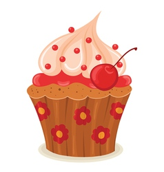 cupcake02 vector image vector image