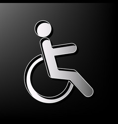 disabled sign gray 3d vector image vector image