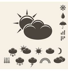 Forecast Icon set vector image vector image