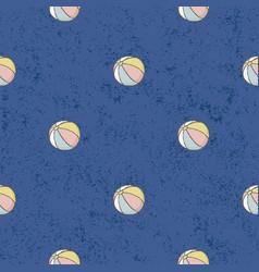 seamless pattern beach balls background vector image