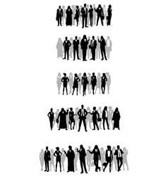 several groups of businessmen vector image