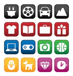 Shopping and Store Icons vector image