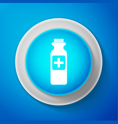 white bottle with medical pills icon tablets sign vector image