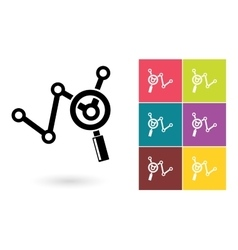 Analytics icon or business analysis symbol vector image