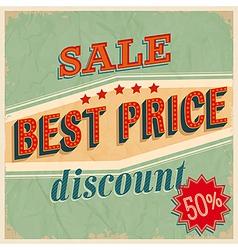 Best price sale vector image