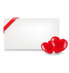 blank gift tag with hearts vector image vector image