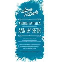 Invitation to wedding card in watercolor art style vector