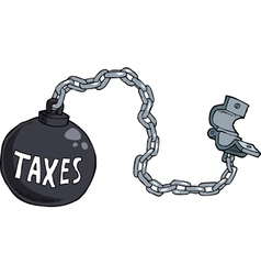 tax shackles vector image