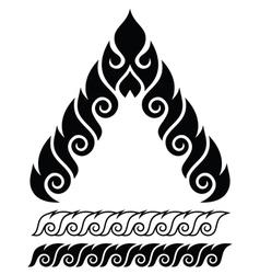 Thai art pattern retro traditional design vector image vector image