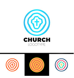 Church logo christian symbols circles target vector
