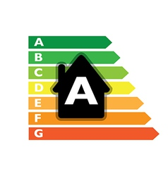 Houses efficiency label vector image